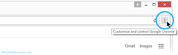 Customize and Control menu button